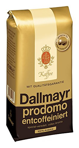 Dallmayr Kaffee Prodomo entcoffeiniert 500g in Kaffeebohnen, 12er Pack (12 x 500 g)