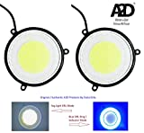 A2D 2.5' inch Full COB Combo Of Car Fog Lamps LED DRL Lights WITH Turn Indicator Signal Double...
