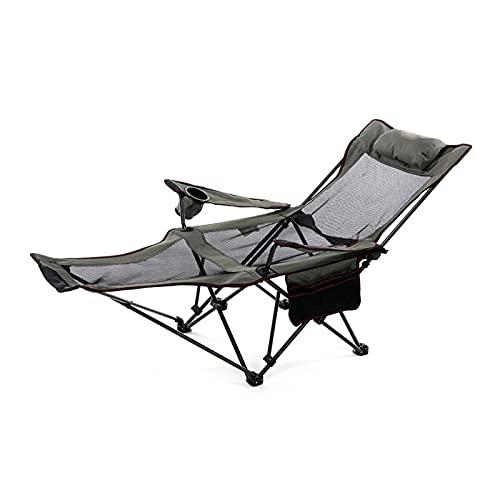 Taburete portátil de la silla de playa que acampa de los muebles al aire libre, Silla tipo mochila plegable ultraligera Silla ligera plegable pequeña para viajes, picnic, senderismo,Gris