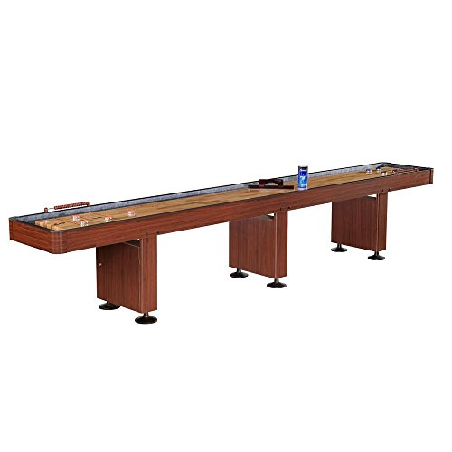 Blue Wave FamilyPoolFun 14 Foot Shuffleboard Table - Dark Cherry