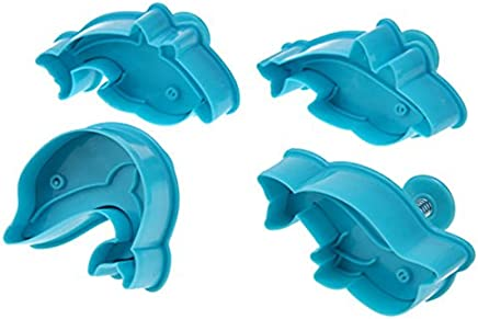 Dolphin Plunger Cookie Cutter 4 pc Set