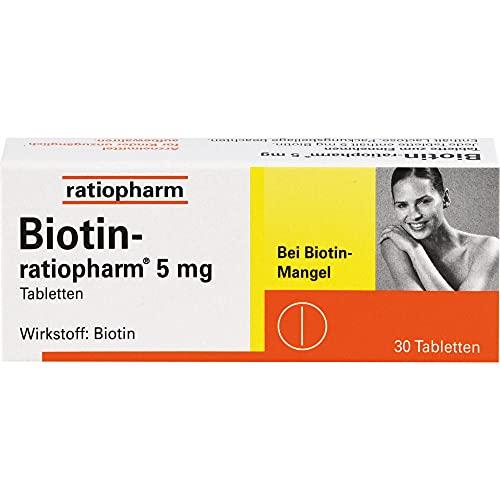 Biotin-ratiopharm 5 mg Tabletten bei Biotin-Mangel, 30 St. Tabletten