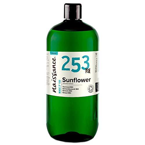 Naissance Huile de Tournesol Certifiée BIO (n° 253) - 1 litre - 100% pure et naturelle