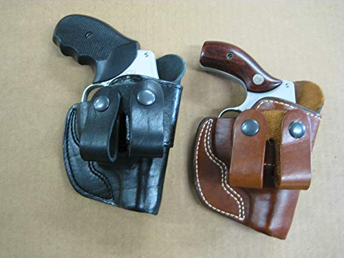Azula Dual Belt Loop IWB Molded Leather Concealed Carry Holster for Smith and Wesson S&W 686 2.5 Inch Barrel Revolver - TAN RH
