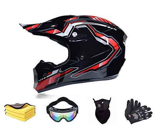 Kinder Crosshelm/Motorrad Fahrrad Helm, mit Brille Handschuhe Maske Motorrad Netz,...