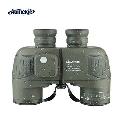 Aomekie Binoculars for Adults 7X50 Marine Military Binoculars Waterproof Fogproof with Compass...