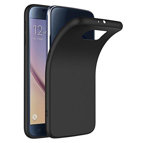 COPHONE Funda Negro Samsung Galaxy S6 . Negro Silicona Fundas para Samsung Galaxy S6 Carcasa Negro Funda Case Galaxy S6 Flexible Ultra Delgado