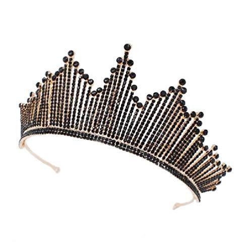Corona barroca tiaras reina vintage cristal novia diadema Rhinestone corona para mujeres accesorios de pelo mujeres