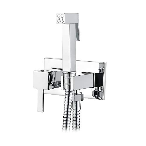 Big Save! Ibergrif M22011 Single Lever Recessed Bidet WC Square Bidet Tap with Hot and Cold Water, C...
