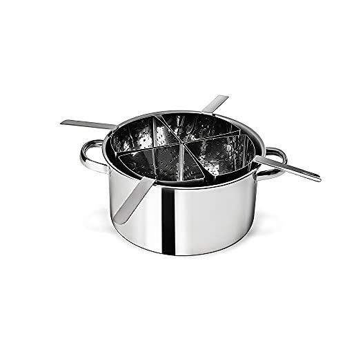 Espagueteira 4 Div Savoy 31x16, 5cm -10 L Brinox Aço Inox
