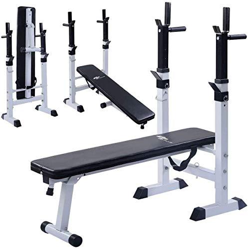 FACAIA Banco de Pesas Ajustable Banco de Entrenamiento Plegable Multi Sit up Workout Barbell Estación de inmersión Levantamiento de Pecho Press Gym Ejercicio