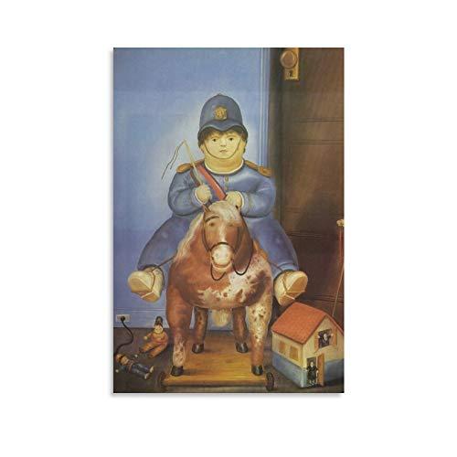 RHJJ Fernando Botero Pedro a caballo regalos lienzo pintura póster decorativo cuadro impreso decoración moderna enmarcada sin marco 50 x 75 cm