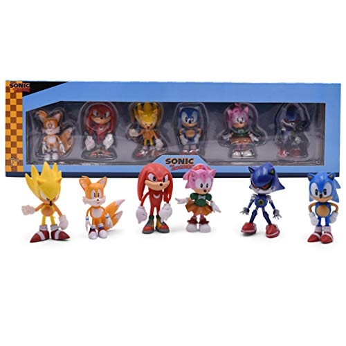 EASTVAPS Sonic The Hedgehog Anime Figure PSP Juego de decoración de muñecas