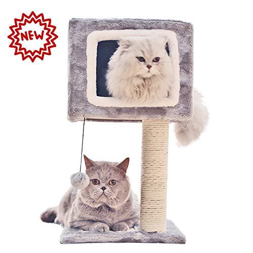 Huisdier Deluxe Multi Level Kat Boom, Huisdier Club Kat Boom -Huisdier kat Klimmen Frame - Kat Gat Kat Plank Kat Speelgoed - Dubbele Deur Tegen De Muur Kat krasplank