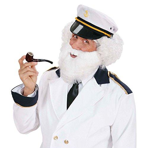 NET TOYS Barbe Carnaval Blanche avec Moustache Barbe de Capitaine Barbe de Carnaval Barbe Carnaval Barbe géante Carnaval