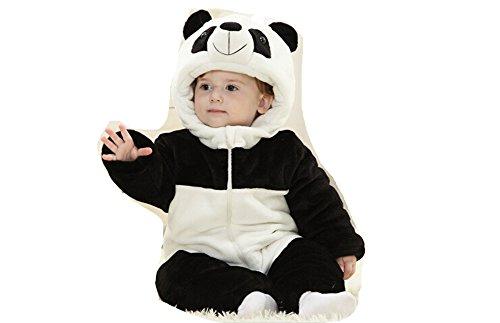 OHmais Bébé Fille garçon Unisexe Grenouillère Costume Deguisement Combinaison Pyjamas Hiver Panda