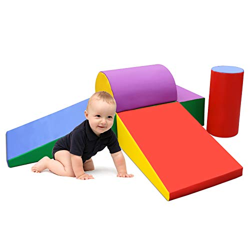Purchase SURPCOS Climb and Crawl Activity Play Set, 6 Pieces Lightweight Foam Shapes for Climbing, C...