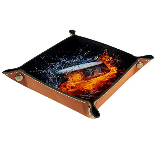 FURINKAZAN Caja de almacenamiento para mesa de noche, hockey sobre hielo con llama