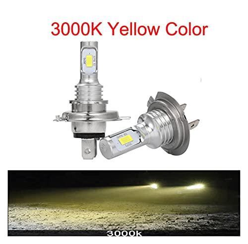 MEIYING PINGPANG LED CSP Mini H7 LED Lámparas para Coches Bombillas De Faros H4 LED H8 H11 H6 Luz De Niebla HB3 9005 HB4 Azul Hielo 800 0K 3000K Auto 12V (Emitting Color : 3000K, Lumens : 12000Lm)