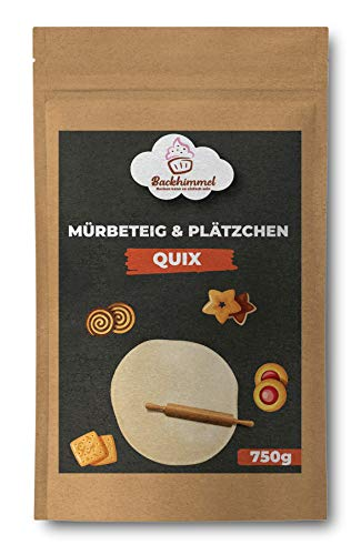 Mürbeteig & Plätzchen Quix 750g | Backmischung für Kekse, Mürbteig, Streusel, Kuchenboden | Backen zu Weihnachten