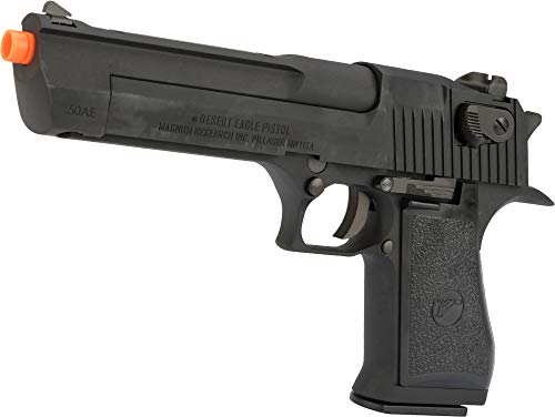 Evike WE-Tech Desert Eagle .50 AE Full Metal Gas Blowback Airsoft Pistol by Cybergun (Color: Black)