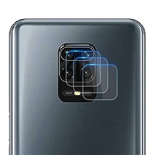 NOKOER Protector Cámara para Xiaomi Redmi Note 9 Pro/Note 9S, [3 Pack] Protector de Pantalla Cámara, 2.5D Película de Protección de Vidrio Templado Resistente a Los Arañazos - Transparente