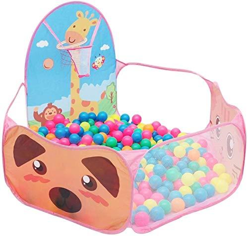 XCJJ Bola Pit Piscina Crush Piscina de Bolas Juego de bebé Casa Bonito niños Juguete Carpa Parque Infantil Fácil portátil Plegable (Amarillo) (Color : Pink)