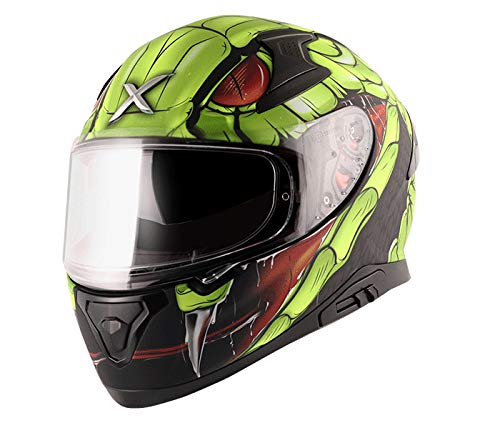 Apex Venomous Dull Black Neon Green Helmet-XL