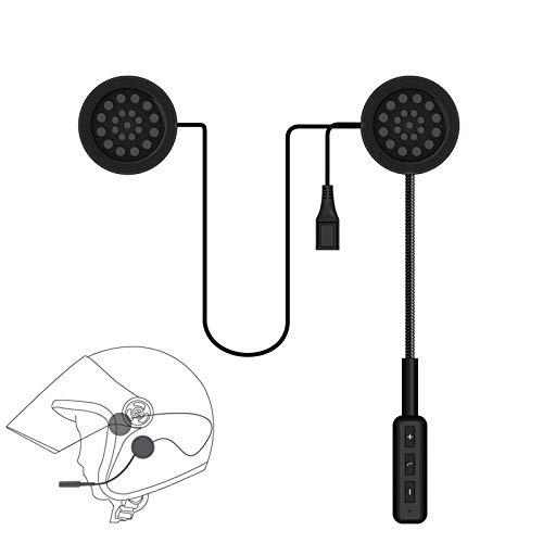 FJYDM Auriculares Bluetooth para Motocicleta Auriculares para Casco De Bicicleta Al Aire Libre Intercomunicador Bluetooth 5.0 para Casco De Motocicleta para Esquí Al Aire Libre En Motocicleta