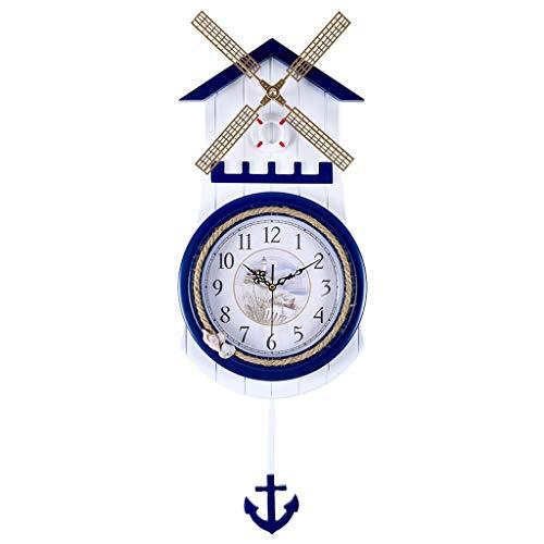 Horloge murale de style méditerranéen Archaize pour pendule de salon en forme de pendule de style européen Horloge murale simple et créative