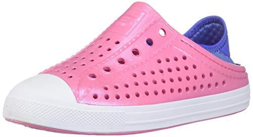 Skechers Girls Foamies Guzman Steps-Shimmer Sweet Water Shoe, Pink/Blue, 2 Big Kid