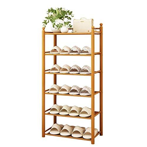 MFWallMirror Schoenenrek, 50 cm breed, opbergrek van natuurlijk bamboe, gemakkelijk te monteren, ruimtebesparend, stofdicht