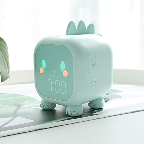 AMZYY Despertador Digital, Relojes Inteligentes con Temperatura de Pantalla Digital LCD, Reloj de Cabecera Recargable USB 12/24 Horas, Relojes de Escritorio para Dormitorio,Cabecera,Oficina