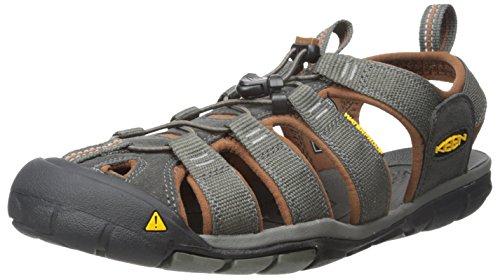 KEEN Herren Clearwater CNX Sandalen Trekking-& Wanderschuhe, Raven/Tortoise Shell, 43 EU