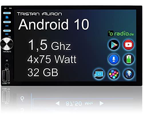 Tristan Auron Android 10 2 Din Autoradio mit Bluetooth Freisprecheinrichtung I GPS NAVI I Rückfahrkamera Anschluss I 7 Zoll Touchscreen Mirrorlink DAB Plus I BT2D7026A