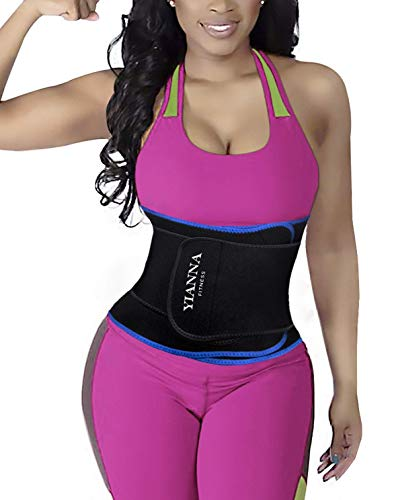 YIANNA Sujetador Deportivo para Mujer Espalda Sujetadores Deportivos Deporte con Relleno Gimnasio Yoga Fitness Ejercicio Azul, 147 - Size S
