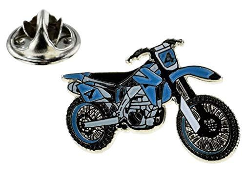 Anstecknadel für Motorrad mit Kreuz, Blau und Weiß