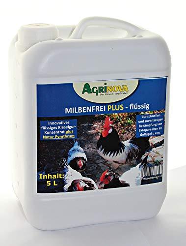 Agrinova Milbenfrei Plus Flüssig Innovatives flüssiges Kieselgur-Konzentrat Natur-Pyrethrum - Auswahl: 5 Liter