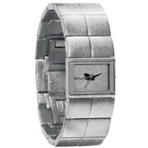 Nixon A190697-00 - Reloj analógico de Cuarzo para Mujer con Correa de Acero Inoxidable, Color Plateado