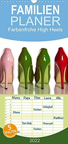 Farbenfrohe High Heels (Wandkalender 2022, 21 cm x 45 cm, hoch)