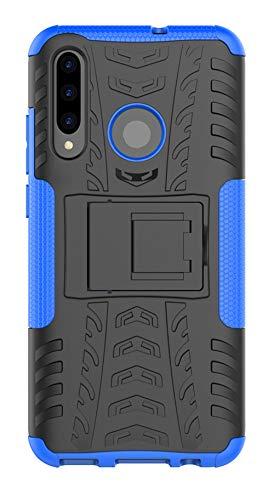 XINFENGDI Huawei p Smart Plus 2019 Cover,Custodia Protettiva in Morbido TPU + PC Anticaduta Antiscivolo AntiGraffio Antiurto con Supporto Modello di Pneumatico per Huawei p Smart Plus 2019 - Blu