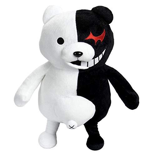 uDaShaA Danganronpa Monokuma Bär Plüschtier Anime Gefüllte Puppe Bär Wurfkissen für Kinder Unisex