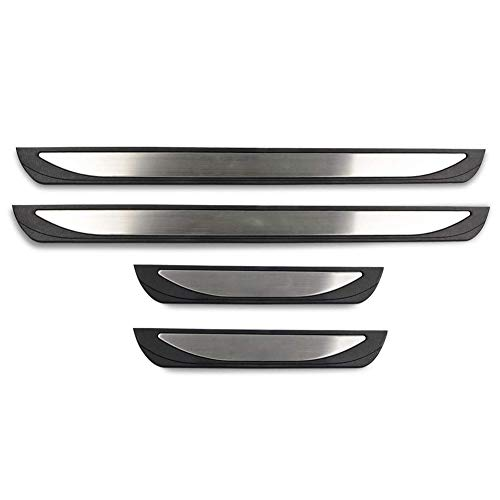 LFOTPP - Embellecedor de umbral de puerta de acero inoxidable para Karoq Sportline Scout, 4 unidades