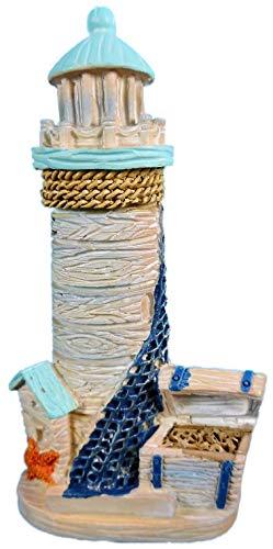 N / A Imán marítimo de faro 9 x 5 cm, recuerdo para nevera, barco, ancla, figura decorativa E17