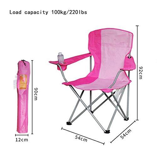 Camping klapstoel | Buiten | Sport | Bekerhouder | Comfortabel | Draagtas | Strand | Camp Quad Chair,Pink