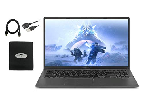 2021 Newest ASUS VivoBook 15.6' FHD Thin Light Business Laptop, 10th Gen Intel i3-1005G1(Up to 3.4GHz,Beat i5 8250U), 8GB RAM,512GB PCIE SSD, BacklitKB, Fingerprint, Windows10 S Mode W/ GM Accessories