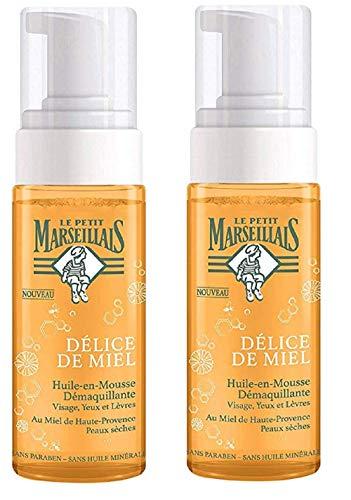 Le Petit Marseillais - Olio in schiuma struccante al miele, flacone da 150 ml, set di 2