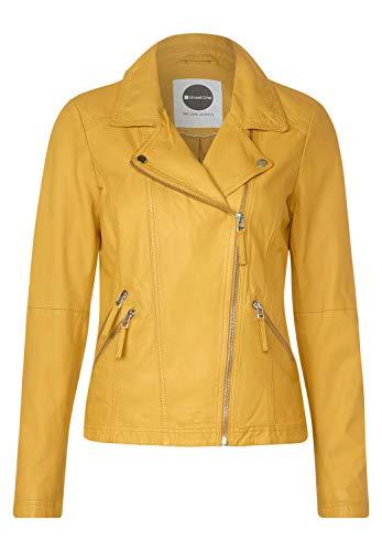 Street One Damen Lederjacke im Biker Style Leather Yellow 34