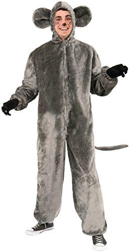Forum Novelties Mouse Mascot Costume, Gray, Standard