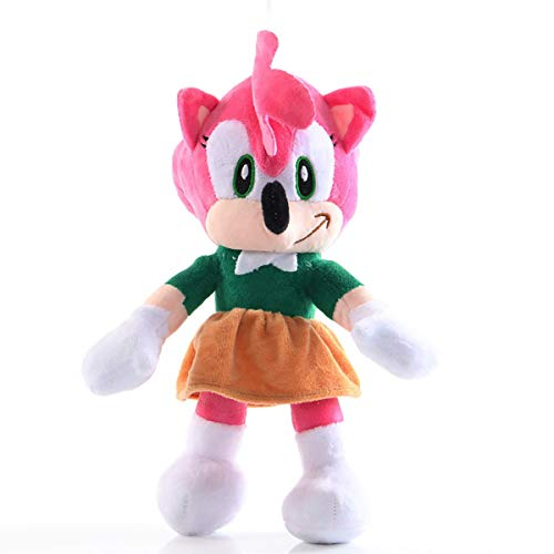 YIRUN Classic Amy Plush Figure Toys Sonic The Hedgehog Sonic The Hedgehog Cartoon Character Plush Children's Pillow 11in (Amy)